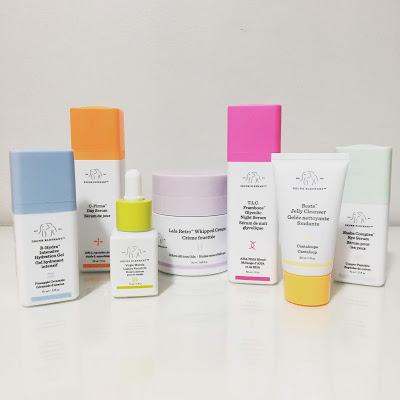 C firma serum, TLC Framboos glycolic, Beste cleanser, B Hydra, marula oil, Lala Retro Whipped Moisturizer, Shaba Eye Cream