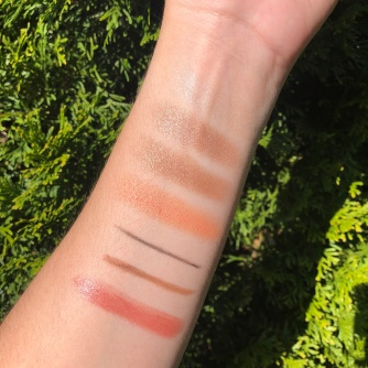 Burts Bees Makeup Swatches in natural light