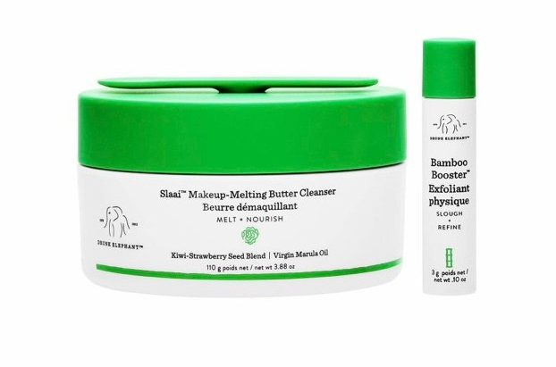 Drunk Elephant Slaai Cleansing Balm and Bamboo Booster review