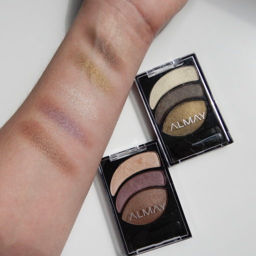 Almay Smoky Eye Trio in Coppery Blaze and Smoldering Embers review and swatches