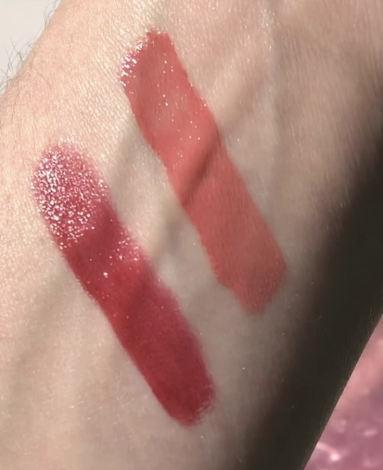 swatch glossier driver genius vinylic lip review